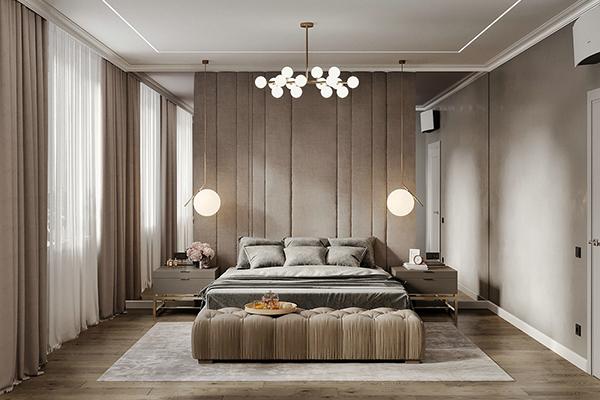 整木定制效果图 两室一厅现代风格设计方案