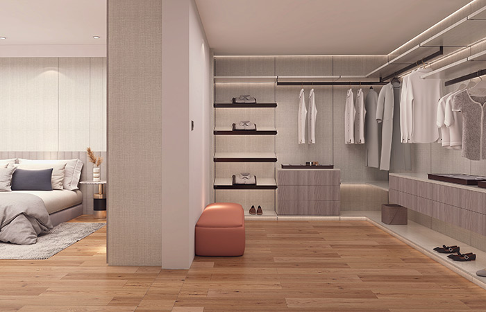 卧室衣帽间要怎么设计比较实用?